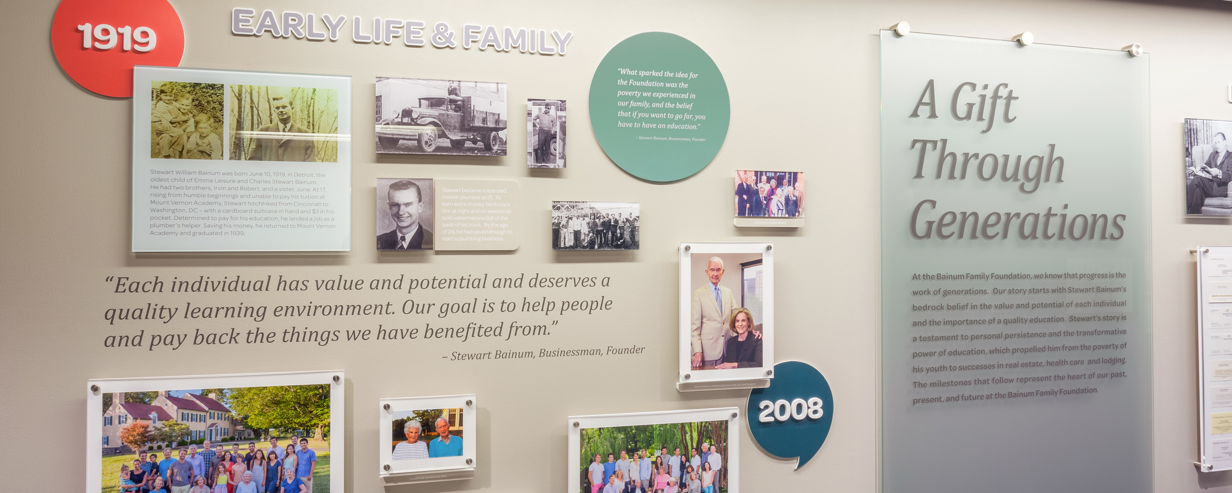 Bainum Family Foundation Milestone Wall