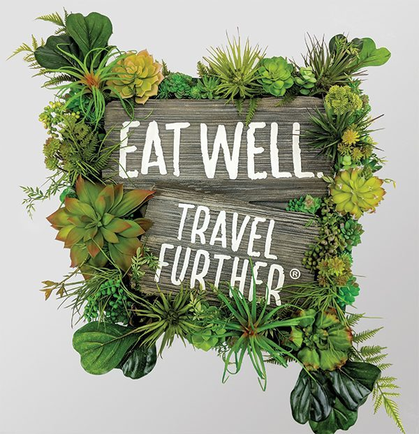 Eat Well Travel Further Retail Sign