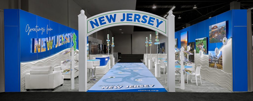 New Jersey's Trade Show Booth Entryway