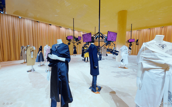 Showroom with mannequins