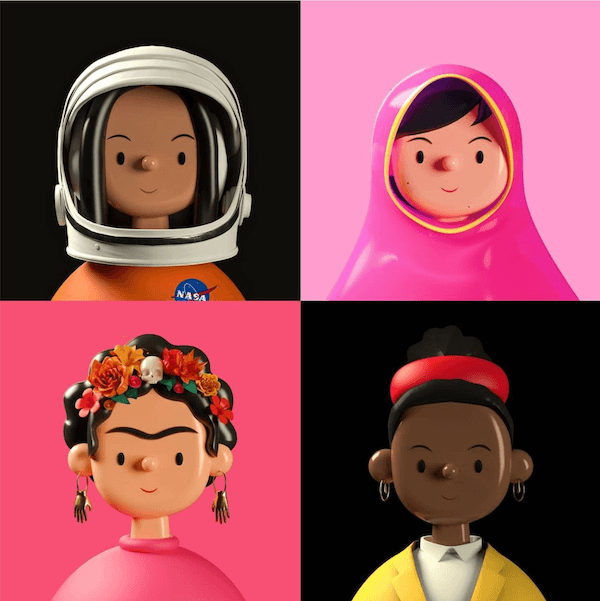 Illustrations of different people
